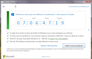 1er message de Microsoft